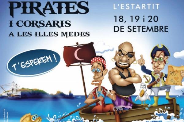 Feest van piraten en zeerovers in l'Estartit