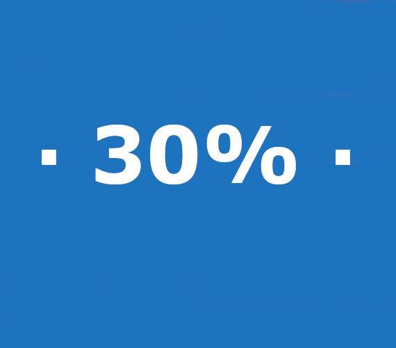Reserveringen van 21 nachten of meer 30% korting