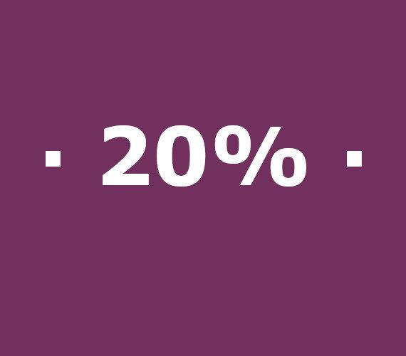 Reserveringen van 14 tot 20 nachten 20% korting