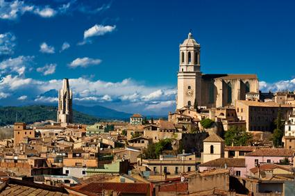 Bezoek aan Girona met de familie
