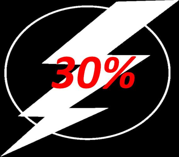 Flash-aanbieding 30% korting